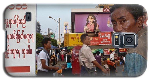 Downtown Rangoon Burma With Curious Man Galaxy S5 Case