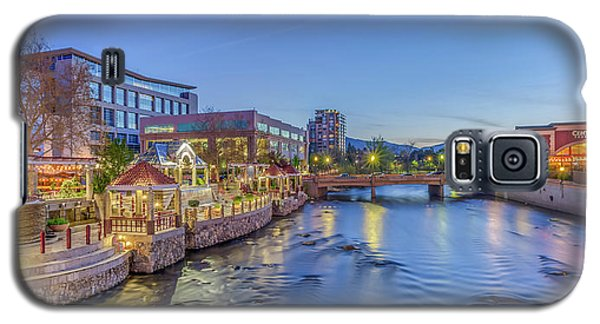 Galaxy S5 Case featuring the photograph Downtown Reno Along The Truckee River by Scott McGuire