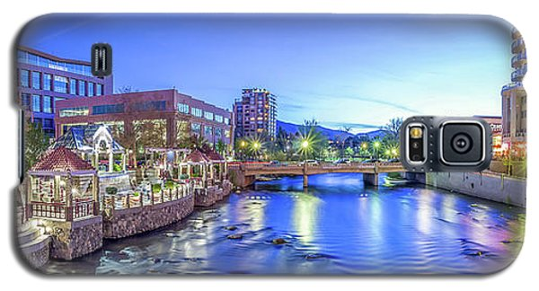 Galaxy S5 Case featuring the photograph Downtown Reno Summer Twilight by Scott McGuire