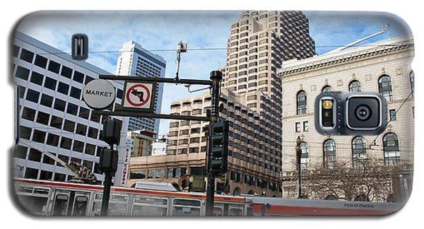 Downtown San Francisco - Market Street Buses Galaxy S5 Case by Matt Harang