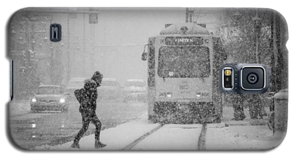 Downtown Snow Storm Galaxy S5 Case