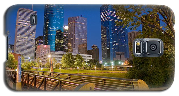 Dowtown Houston By Night Galaxy S5 Case