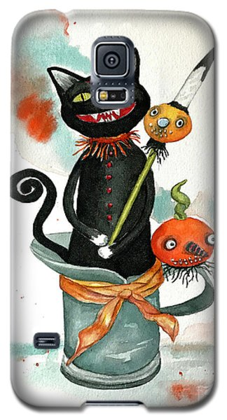 Dracula Vintage Cat Galaxy S5 Case