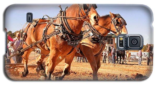 Galaxy S5 Case featuring the photograph Draft Horse Pulling Cedar City Livestock Festival 2015 by Deborah Moen