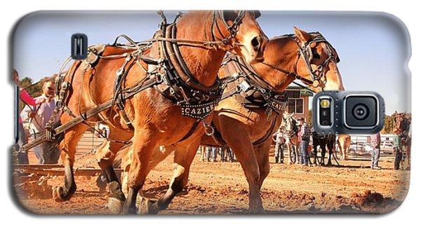 Draft Horse Pulling Cedar City Livestock Festival 2015 Galaxy S5 Case