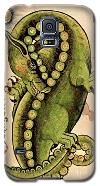 Galaxy S5 Case featuring the painting Dragon Dragon by Lora Serra