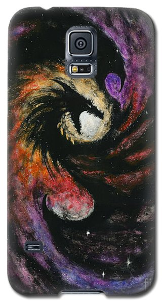 Galaxy S5 Case featuring the painting Dragon Galaxy by Stanley Morrison