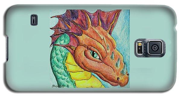 Galaxy S5 Case featuring the drawing Dragon Portrait by Yulia Kazansky