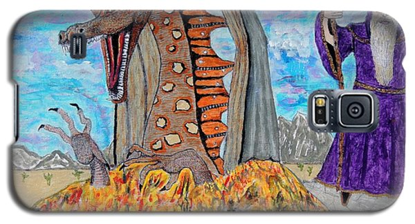 Galaxy S5 Case featuring the painting Dragon Summons. by Ken Zabel