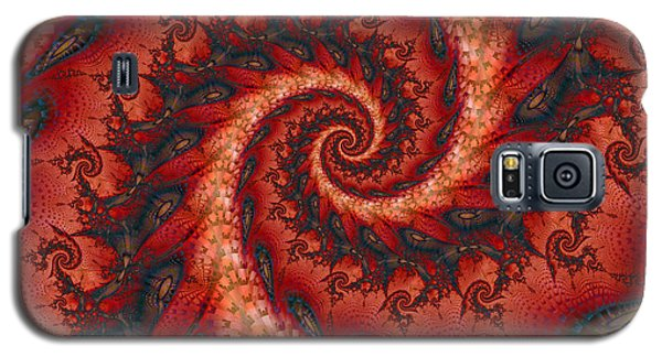 Galaxy S5 Case featuring the digital art Dragon Tail Spiral by Richard Ortolano