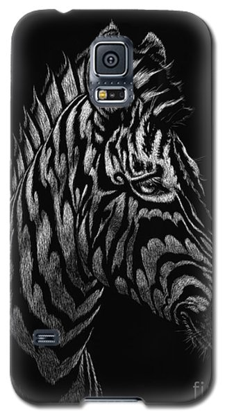 Galaxy S5 Case featuring the painting Dragon Zebra by Stanley Morrison