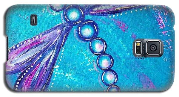 Dragonfly Bubble Art Galaxy S5 Case by Rene Waddell