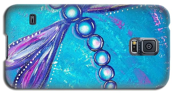 Dragonfly Bubble Art Galaxy S5 Case by Rene Waddell