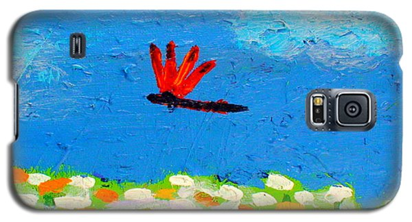 Dragonfly Closeup From Day And Night Galaxy S5 Case by Angela Annas