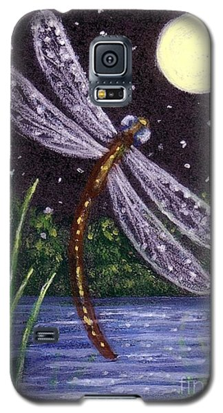 Galaxy S5 Case featuring the painting Dragonfly Dreaming by Sandra Estes