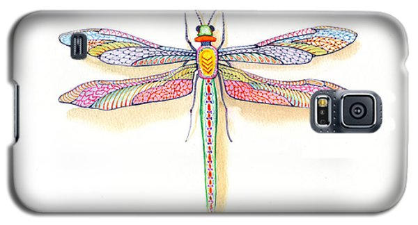 Galaxy S5 Case featuring the painting Dragonfly by John Norman Stewart