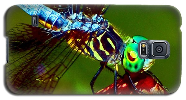 Galaxy S5 Case featuring the photograph Dragonfly On A Pitcher Plant 007 by George Bostian