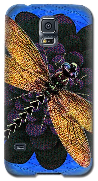 Galaxy S5 Case featuring the digital art Dragonfly Snookum by Iowan Stone-Flowers