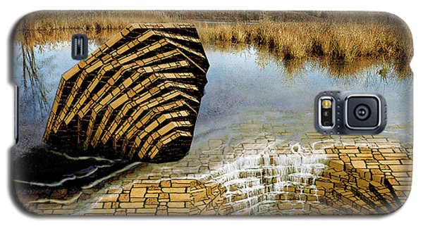 Galaxy S5 Case featuring the painting Drain - Mendon Ponds by Peter J Sucy