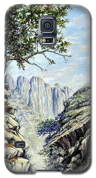 Galaxy S5 Case featuring the painting Drakensberg by Heidi Kriel