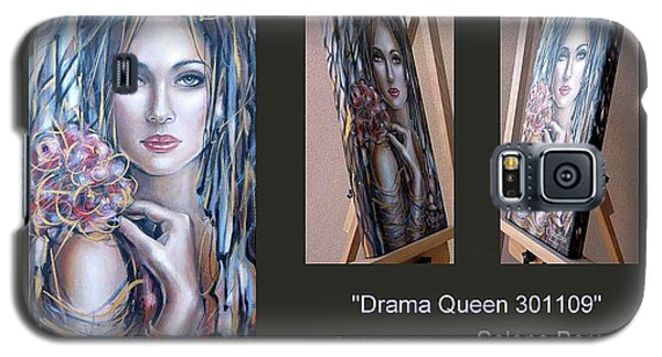 Galaxy S5 Case featuring the painting Drama Queen 301109 by Selena Boron