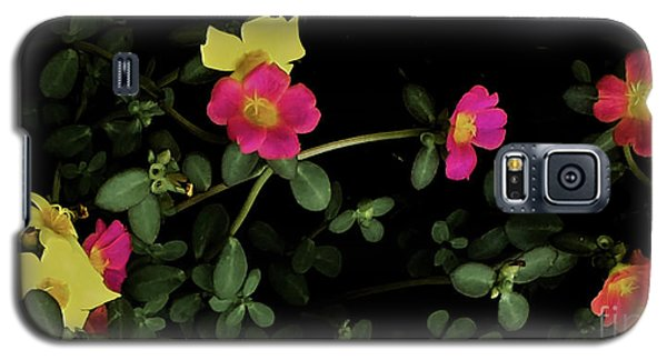 Dramatic Colorful Flowers Galaxy S5 Case