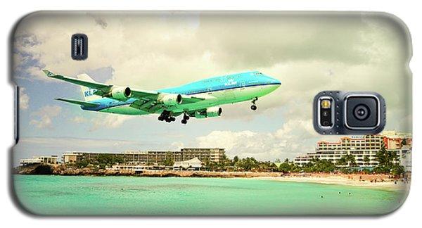 Dramatic Landing At St Maarten Galaxy S5 Case