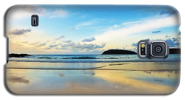 Dramatic Scene Of Sunset On The Beach Galaxy S5 Case