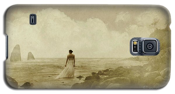 Dramatic Seascape And Woman Galaxy S5 Case