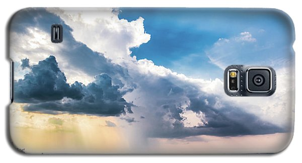 Galaxy S5 Case featuring the photograph Dramatic Sunrays Over The Valley by Shelby Young