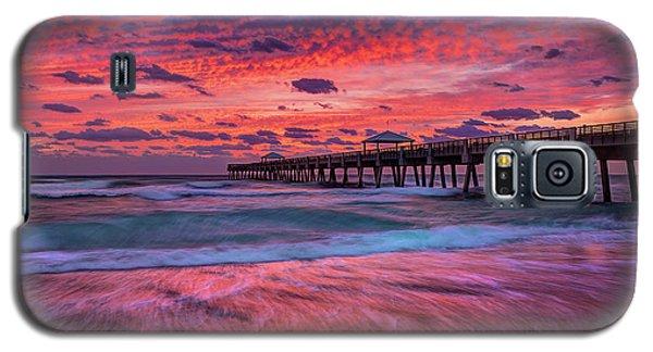 Dramatic Sunrise Over Juno Beach Pier, Florida Galaxy S5 Case