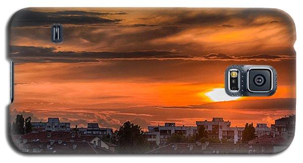 Dramatic Sunset Over Sofia Galaxy S5 Case by Jivko Nakev