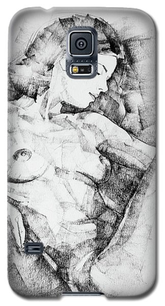 Drawing Beautiful Girl Figure Galaxy S5 Case