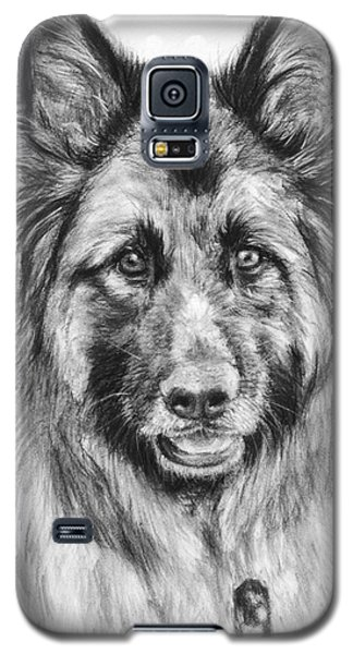 Drawing Of A Long-haired German Shepherd Galaxy S5 Case