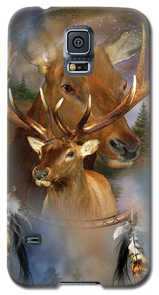 Dream Catcher - Spirit Of The Elk Galaxy S5 Case by Carol Cavalaris