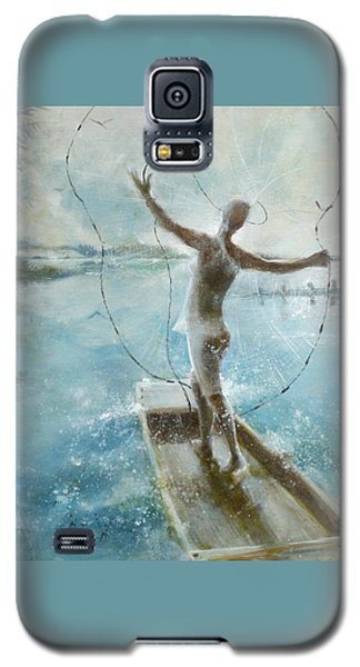 Galaxy S5 Case featuring the painting Dream Catcher by Gertrude Palmer