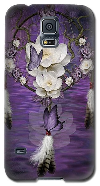 Dream Catcher Purple Flowers Galaxy S5 Case