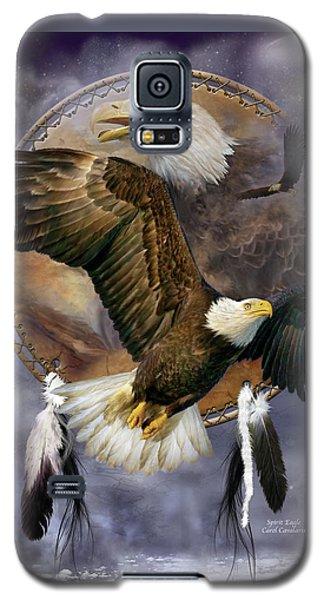 Dream Catcher - Spirit Eagle Galaxy S5 Case by Carol Cavalaris