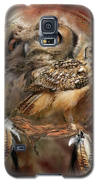 Card Galaxy S5 Case - Dream Catcher - Spirit Of The Owl by Carol Cavalaris