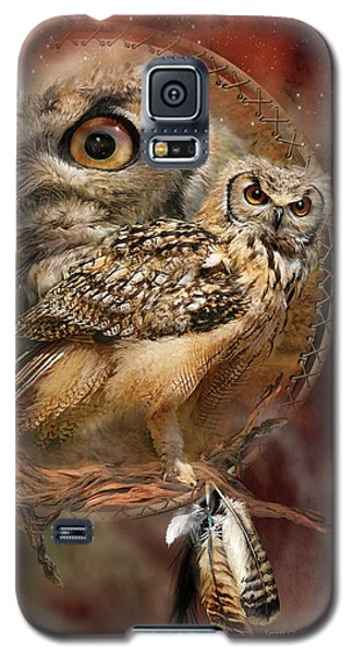 Dream Catcher - Spirit Of The Owl Galaxy S5 Case by Carol Cavalaris