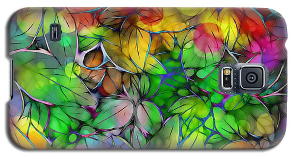 Galaxy S5 Case featuring the digital art Dream Colored Leaves by Klara Acel