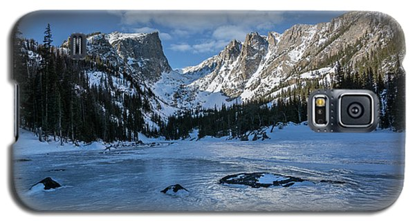 Galaxy S5 Case featuring the photograph Dream Lake Morning by Aaron Spong