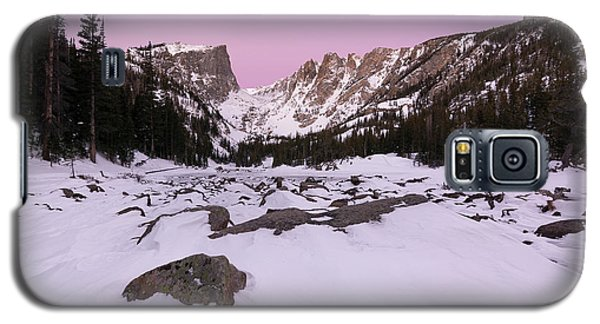 Galaxy S5 Case featuring the photograph Dream Lake - Pre Dawn by Aaron Spong