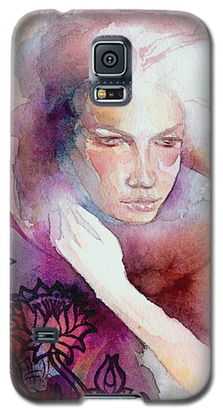 Galaxy S5 Case featuring the painting Dream Lotus by Ragen Mendenhall