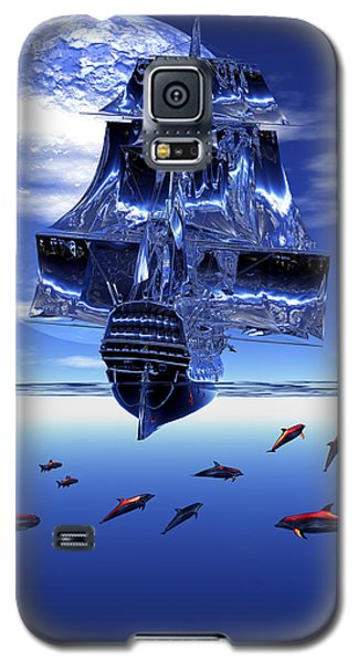 Galaxy S5 Case featuring the digital art Dream Sea Voyager by Claude McCoy