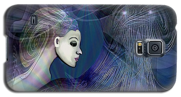 Galaxy S5 Case featuring the digital art 1101 - Dream Voyage - 2017 by Irmgard Schoendorf Welch