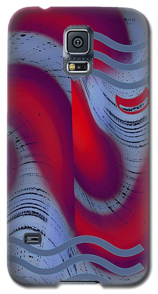 Galaxy S5 Case featuring the digital art Dreaming Clown by Ben and Raisa Gertsberg