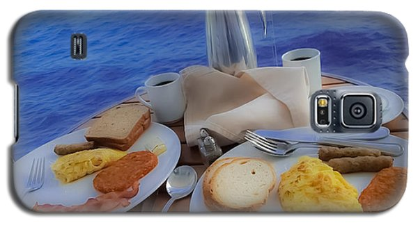 Galaxy S5 Case featuring the photograph Dreaming Of Breakfast At Sea by DigiArt Diaries by Vicky B Fuller