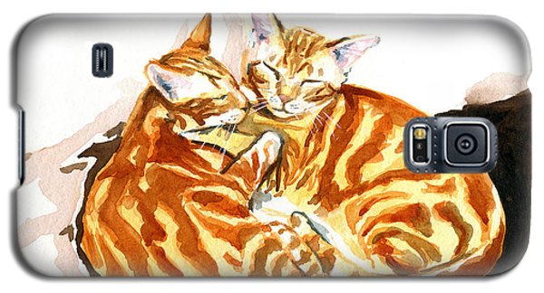 Dreaming Of Ginger - Orange Tabby Cat Painting Galaxy S5 Case