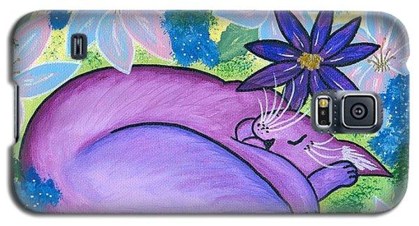 Dreaming Sleeping Purple Cat Galaxy S5 Case